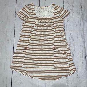 Anthro meadow rue striped comfy shirt dress